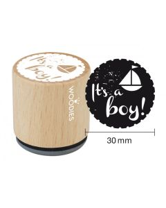 Woodies Rubber Stamp - It's a Boy!