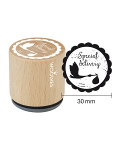 Woodies Rubber Stamp - Special Delivery