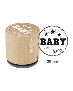 Woodies Rubber Stamp - Baby Boy