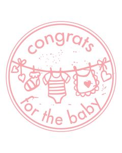 Woodies Rubber Stamp - congrats for the baby