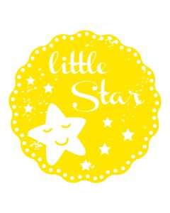 Woodies Rubber Stamp - little Star
