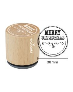Woodies Rubber Stamp - Merry Christmas To...