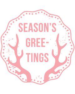 Woodies Rubber Stamp - Season's greetings