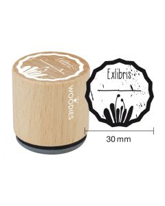 Woodies Rubber Stamp - Books