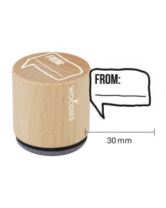 Woodies Rubber Stamp - From...