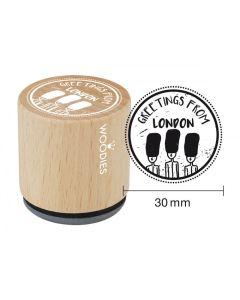 Woodies Rubber Stamp - London - Greetings, Grenadier Guards