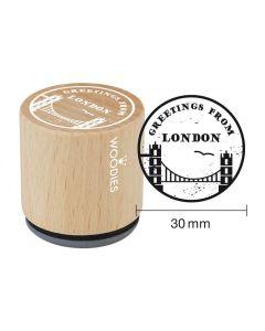 Woodies Rubber Stamp - London - Greetings, Towerbridge