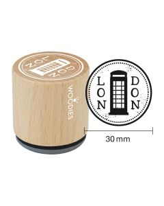 Woodies Rubber Stamp - London - Telephone Box