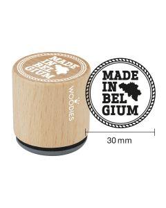 Woodies Rubber Stamp - Belgium - Made in Belgium