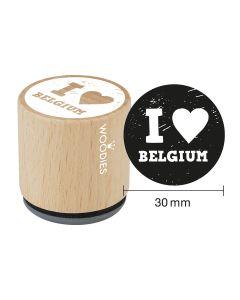 Woodies Rubber Stamp - Belgium - I love Belgium
