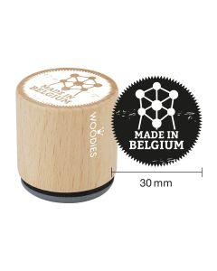 Woodies Rubber Stamp - Belgium - Made in Belgium Atomium