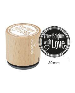 Woodies Rubber Stamp - Belgium - From Belgium with love
