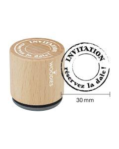 Tampon Woodies - Invitation - réservez la date
