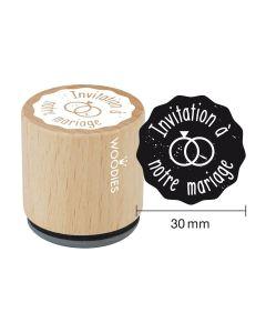 Tampon Woodies - Invitation à notre mariage