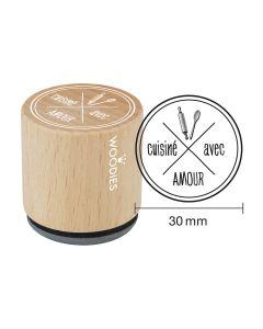 Tampon Woodies - Cuisiné avec amour