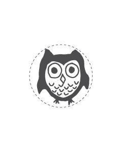 Mini Woodies Rubber Stamp - Owl