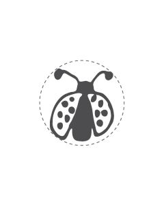 Mini Woodies Rubber Stamp - Ladybug