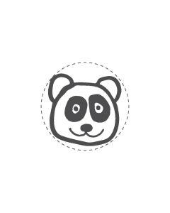 Mini Woodies Rubber Stamp - Panda