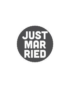 Mini Woodies Rubber Stamp - Just marrried