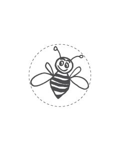 Mini Woodies Rubber Stamp - Busy bee