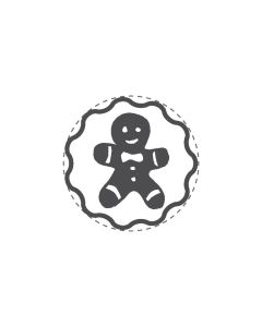 Mini Woodies Rubber Stamp - Gingerbread man