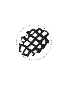 Mini Woodies Rubber Stamp - Belgium - Wafer