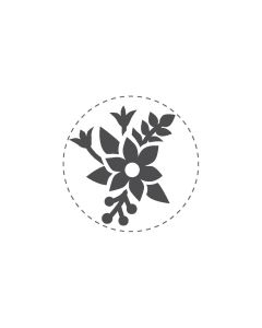 Woodies Rubber Stamp - Flowers
