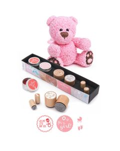 Woodies Motivstempel KIT - Baby Girl