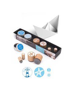 Woodies Rubber Stamp KIT - Maritim - Woodies Motivstempel KIT - Maritim