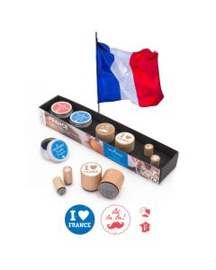 Woodies Rubber Stamp KIT - France