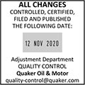 Square Custom Date Stamps